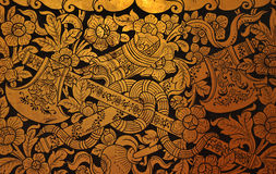 Traditional Thai art on wall Stock Image