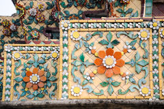 Traditional Thai art on the wall of Wat Arun temple Stock Photo