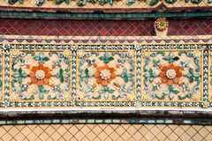 Traditional Thai art on the wall of Wat Arun temple Stock Images