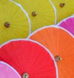Traditional Thai bamboo umbrellas Stock Image
