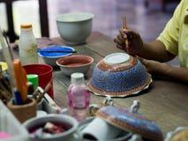 A traditional Thai Benjarong, ceramic, Thailand Stock Photo