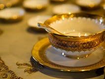 A traditional Thai Benjarong, ceramic, Thailand Royalty Free Stock Photo