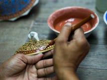 A traditional Thai Benjarong, ceramic, Thailand Stock Images