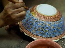 A traditional Thai Benjarong, ceramic, Thailand Royalty Free Stock Photography