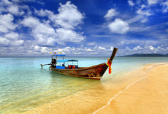 Traditional Thai boat stock image