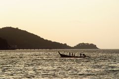 Traditional Thai boat in the Adaman sea royalty free stock photo