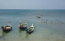 Traditional Thai boat on Ko Lanta, Thailand Royalty Free Stock Photo