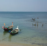 Traditional Thai boat on Ko Lanta, Thailand Stock Photos