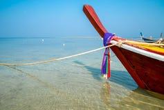 Traditional thai boats at  beach, NaiYang Royalty Free Stock Images