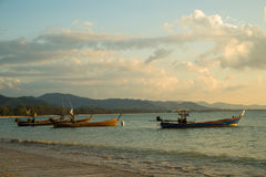 Traditional Thai boats near the beach Royalty Free Stock Image