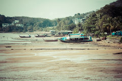 Traditional thai boats in  Phang nga,Phuket, Thailand Royalty Free Stock Photo
