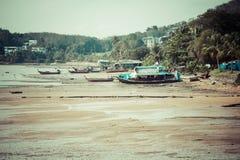 Traditional thai boats in  Phang nga,Phuket, Thailand Royalty Free Stock Photo
