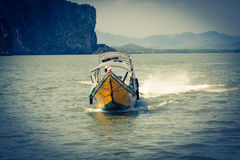 Traditional thai boats in  Phang nga,Phuket, Thailand Stock Images