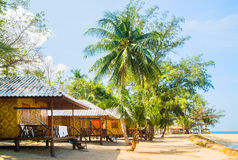 Traditional Thai bungalow on the beach Royalty Free Stock Photo