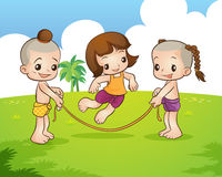 Traditional Thai children are playing. Traditional Thai game Royalty Free Stock Images