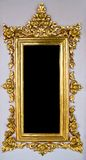 Traditional Thai Chinese Golden Empty Frame Royalty Free Stock Images