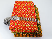 Traditional Thai Cloth with Silver Belt Stock Photos