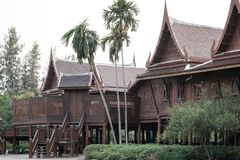Traditional thai country house , Thailand.  Royalty Free Stock Photo