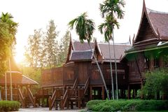 Traditional thai country house , Thailand.  Stock Images