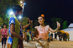 Thai dancer. Traditional Thai dance by men and women Stock Photography