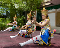 Traditional Thai dance presentation Stock Photography