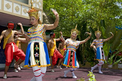 Traditional Thai dance presentation Stock Image
