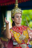Traditional Thai Dancer. Thai dancer dressed in traditional costume - Thailand Royalty Free Stock Photos