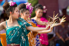 Traditional thai dancers Royalty Free Stock Photos