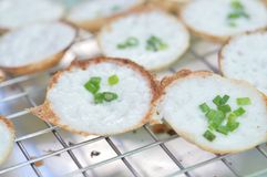 Traditional Thai dessert, coconut milk and rice flour pancake Royalty Free Stock Photography
