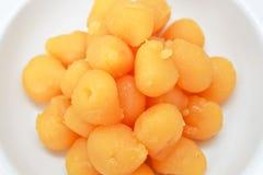 Traditional thai dessert. Gold Egg Yolks Drops Royalty Free Stock Image