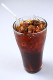 Traditional thai drink. Glass of ice Longan stock images