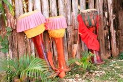 Traditional thai drum Stock Photo
