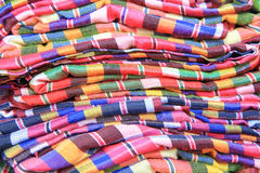 Traditional thai fabric cloth Stock Image