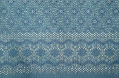 Traditional Thai fabric pattern Royalty Free Stock Photos