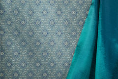 Traditional Thai fabric pattern Royalty Free Stock Photo