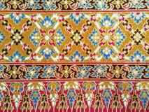 Traditional Thai fabric pattern royalty free stock image