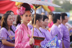 Traditional thai festival Royalty Free Stock Photo