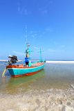 Traditional Thai fisherman boats on the beach Stock Photo