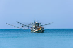 Traditional thai fishing boat, Koh Kood island, Thailand Stock Photos