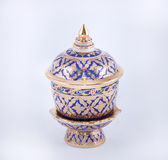 A traditional Thai five-colored famous porcelain Stock Images