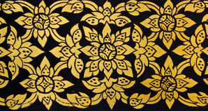 Traditional Thai floral pattern art Royalty Free Stock Photo