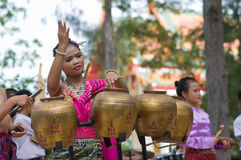Traditional Thai Folk Dance (Pongrang) Stock Photo