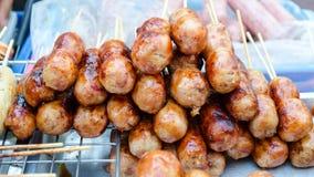 Traditional Thai Food, E-san Sausage Northeastern Thai Style, Gr Royalty Free Stock Image