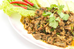 Traditional Thai food, spicy minced pork salad Stock Images
