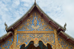 Traditional Thai gable in Thai temple Stock Images