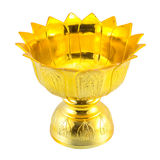 Traditional Thai gold-ware on isolated white background Stock Image