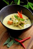 Traditional thai green curry Stock Images