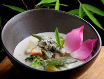 Traditional thai green curry Stock Photos