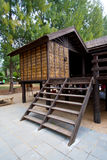 Traditional thai house. In the tropical rainforest Stock Photography