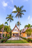 Traditional  Thai house modern architecture near the beach in Tha Royalty Free Stock Photos